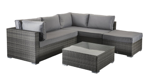 Aria Corner Sofa in 8mm Flat Grey Weave