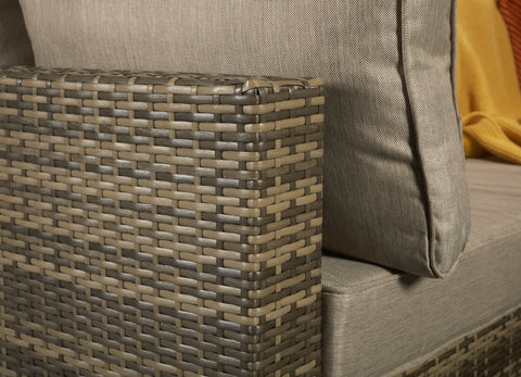 Aria Corner Sofa in 8mm Flat Nature Brown Weave