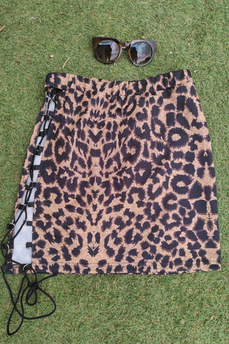 Mini falda leopardo