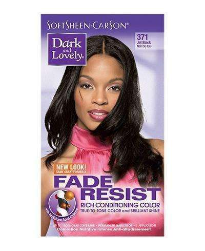 Dark & Lovely Fade Resistant Rich Conditioning Color - #371 Jet Black - Deluxe Beauty Supply