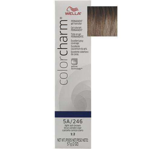 Wella Color Charm Gel Permanent Hair Color - 5A/246 Light Ash Brown - L.A. Beauty Supply