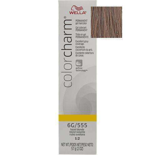 Wella Color Charm Gel Permanent Hair Color - 6G/555 Hazel Blonde - L.A. Beauty Supply