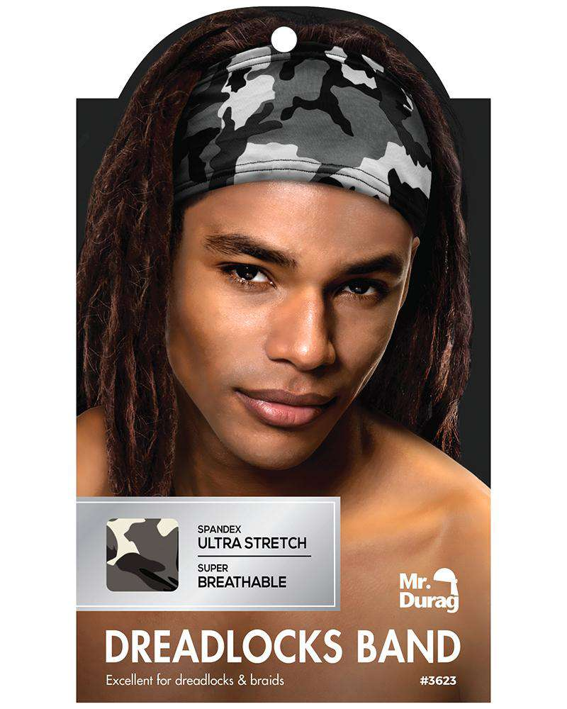 Annie Spandex Ultra Stretch Dread Locks Band - Grey Camo - Deluxe Beauty Supply