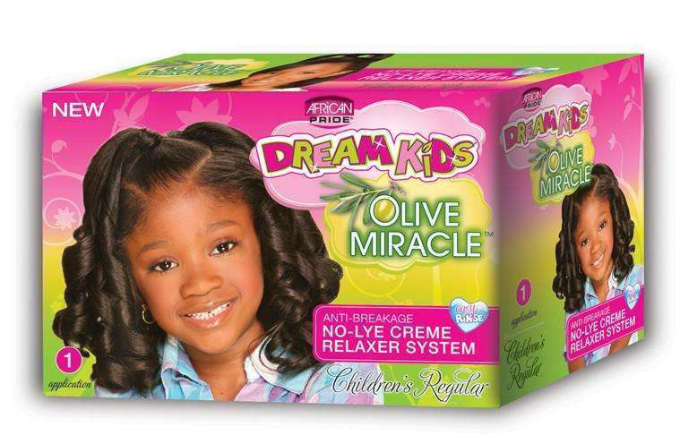 African Pride Dream Kids Olive Miracle No Lye Creme Relaxer System Regular