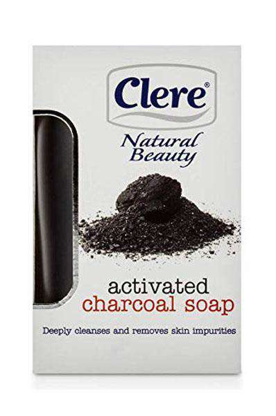Clere Natural Beauty Activated Charcoal Soap
