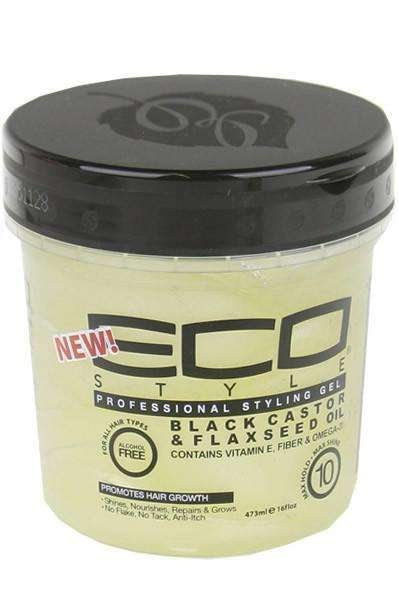 Eco Style Black Castor & Flaxseed Oil Styling Gel 16oz