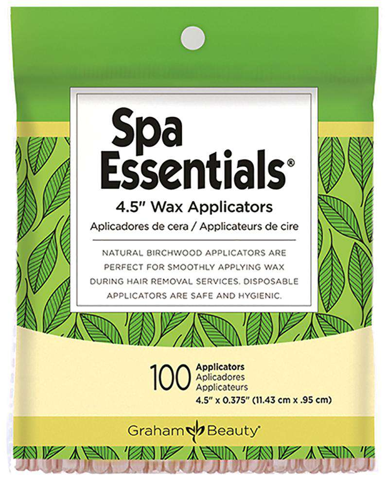 Graham Beauty Spa Essentials Wax Applicators 4.5inch - Deluxe Beauty Supply