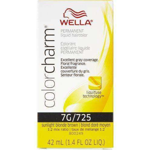Wella Color Charm Permanent Liquid Hair Color - 7G/725 Sunlight Blonde Brown - L.A. Beauty Supply