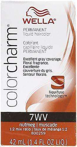 Wella Color Charm Permanent Liquid Hair Color - 7WV Nutmeg - L.A. Beauty Supply