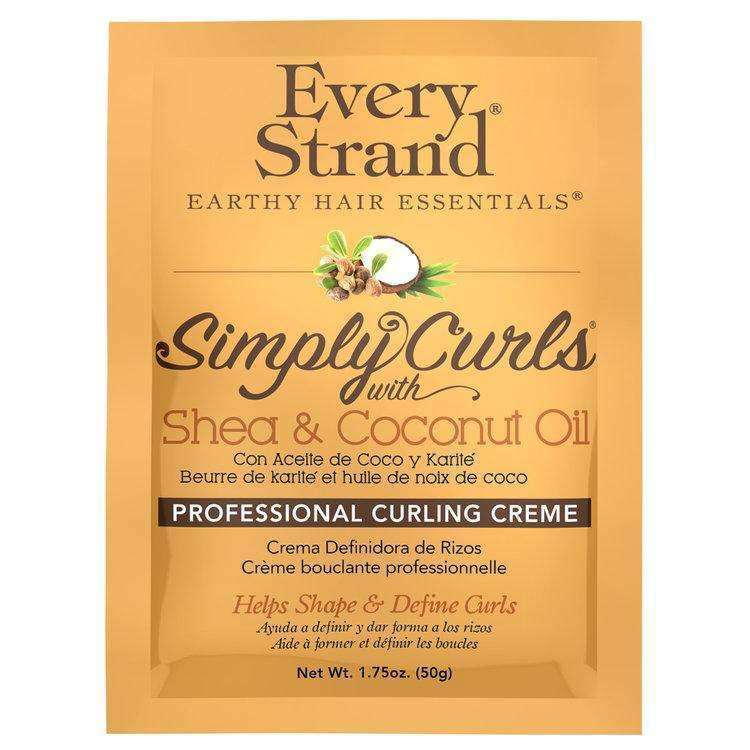 Every Strand Simply Curls Shea & Coconut Oil Professional Curling Creme Packette