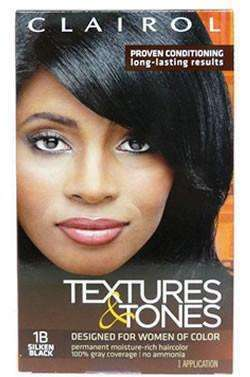 Textures & Tones Permanent Hair Color - 1B Silken Black