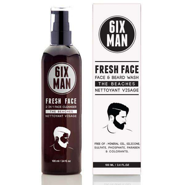 6ix Man Face & Beard Wash - L.A. Beauty Supply