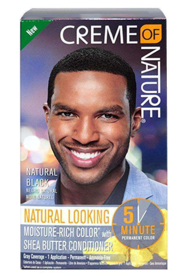Crème Of Nature Men's Liquid Hair Color - #1 Natural Black