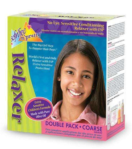 Sofn'free N' Pretty Relaxer Double Pack -Coarse