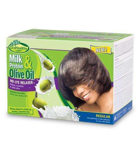 Sofn'free GroHealthy Milk Protein & Olive Oil Relaxer Kit - Regular