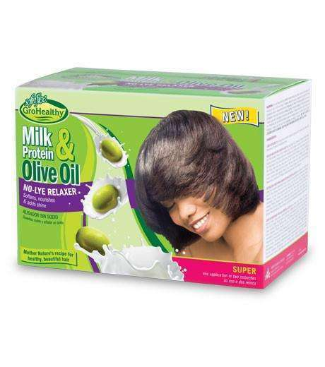 Sofn'free GroHealthy Milk Protein & Olive Oil Relaxer Kit - Super