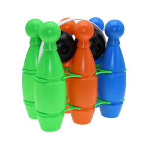 Multi-colour Plastic Bowling Set
