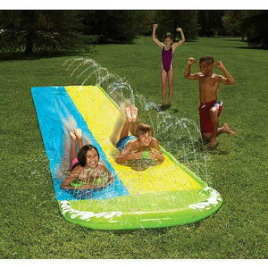 Wham-o 16ft Slip 'N Slide Double Wave Rider Water Slide