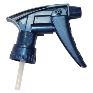 Chemical resistant spray trigger in blue