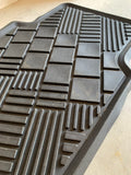 Clean rubber floor mats after treating with Blitz