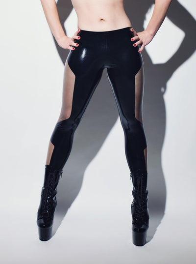 Futuriste Latex Leggings