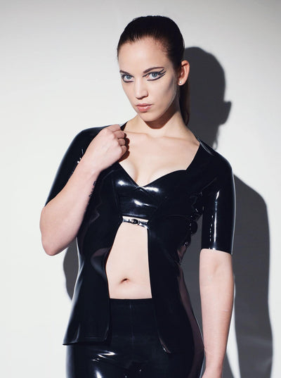 Militant Latex Jacket Uniform