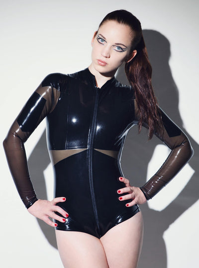 Militant Latex Bodysuit Women