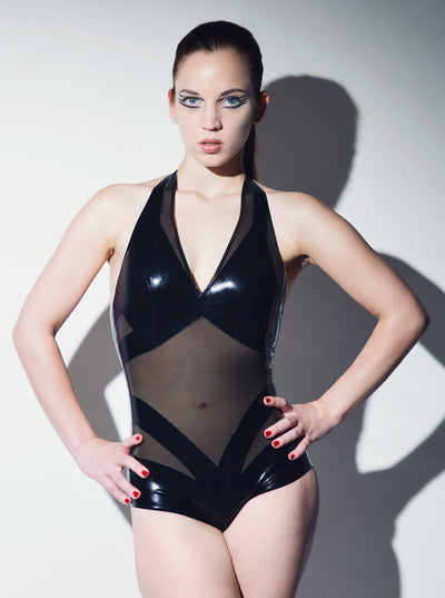 Utopia Latex Bodysuit Black Transparent