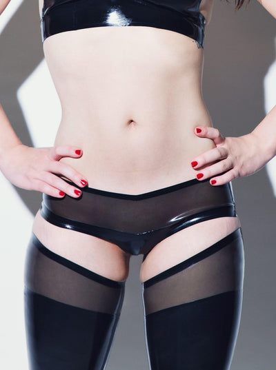 Latex Panty Black Transparent