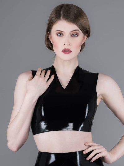 Latex Top Black