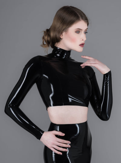Secret Crop Top Latex Rubber