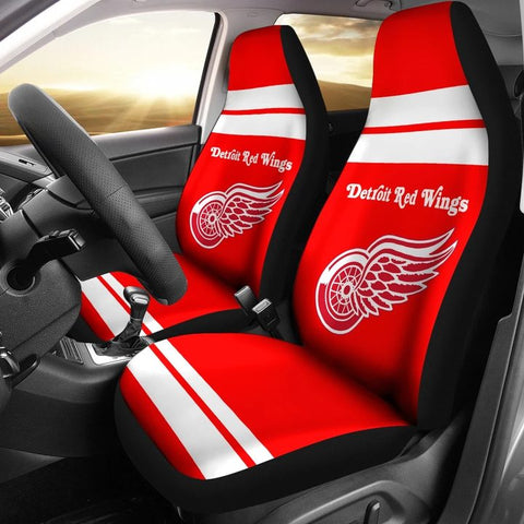 DETROIT RED WINGS CAR SEAT COVER (SET OF 2) VER 1