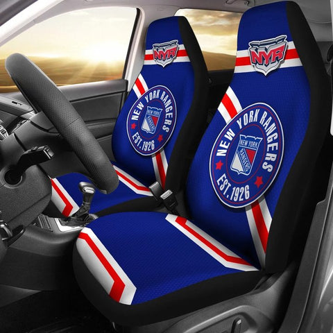 NEW YORK RANGERS CAR SEAT COVER (SET OF 2) (4360027471971)