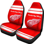 DETROIT RED WINGS CAR SEAT COVER (SET OF 2) VER 1 (4360046870627)
