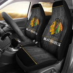 CHICAGO BLACKHAWKS CAR SEAT COVER (SET OF 2) VER 2 (4359985332323)