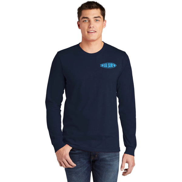 Surfboard Long Sleeve Tee-Navy