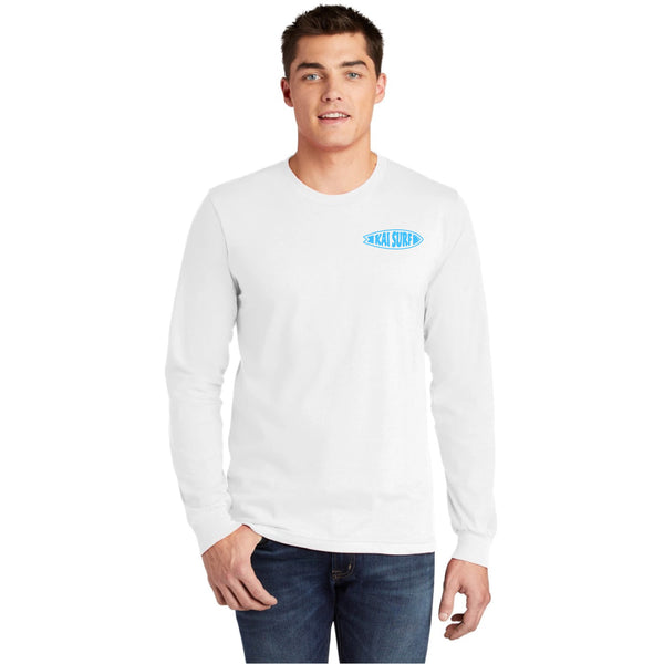 Surfboard Long Sleeve Tee-White