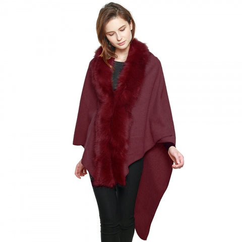 Triangle Fur Cape (3 Colors)