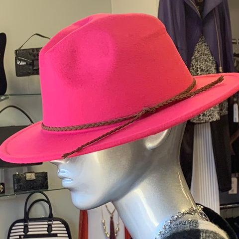 Fuchsia Fashion Fedora