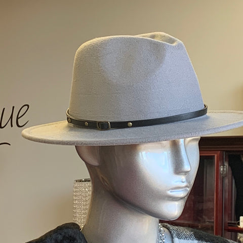 Grey Fashion Fedora