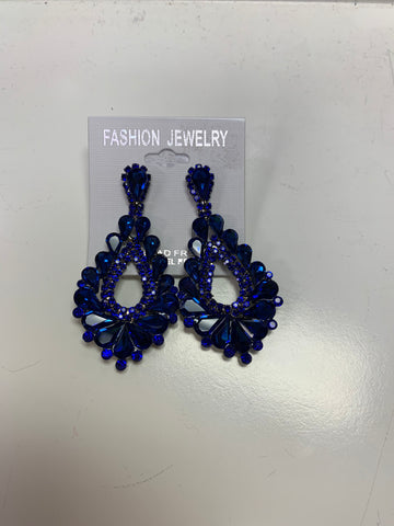 Blue Clip Earrings