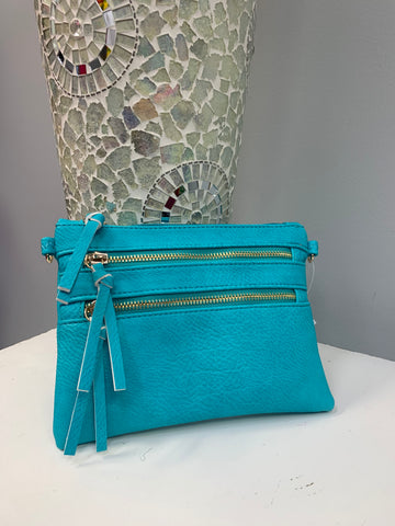 Teal Crossbody Clutch