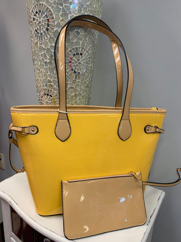 The Pretty Patent Yellow Bag