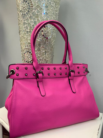 Fancy Fuchsia Studded Bag
