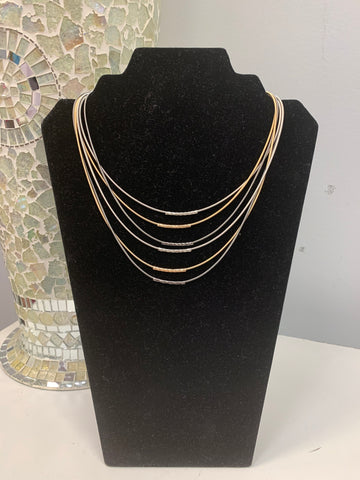 Accented Piano Wire Necklace
