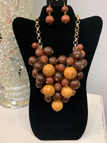 Wooden Beaded Set