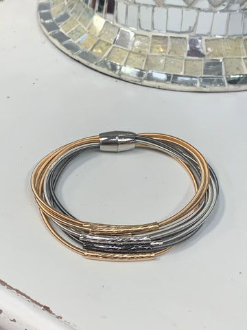 Accented Piano Wire Bracelet
