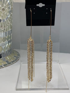 Slim Golden Chandelier Earrings