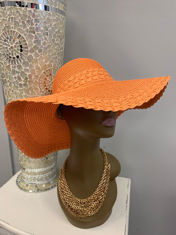 Orange Straw Hat