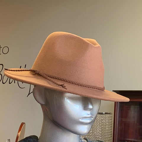 Taupe Fashion Fedora